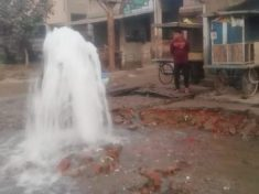 Water wastage in Faridabad: With the pipeline bursting in the road construction work, the water crisis deepened in the population of five lakhs.