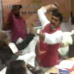In Sant Kabir Nagar, the MP got the first rainbow and boots, and then apologized!
